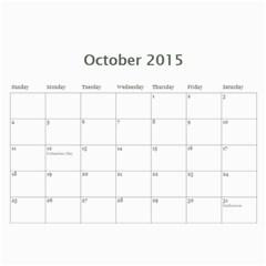 Calendar 2015 By Bekah Donohue   Wall Calendar 11  X 8 5  (12 Months)   Kf32dyeuidmh   Www Artscow Com Oct 2015
