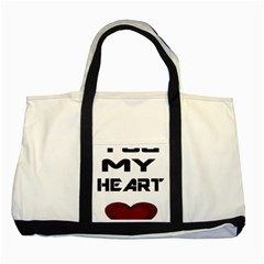 You My Heart Two Toned Tote Bag by edward55