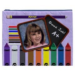 School Pencil Cosmetic Bag Xxxl By Chere s Creations   Cosmetic Bag (xxxl)   T74diqqxu2yz   Www Artscow Com Front