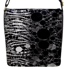 Zebra Print Bling Abstract Flap Closure Messenger Bag (small) by OCDesignss
