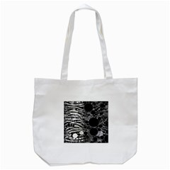 Zebra Print Bling Abstract Tote Bag (white)