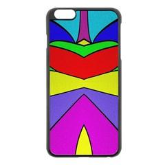 Abstract Apple Iphone 6 Plus Black Enamel Case by Siebenhuehner