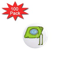 Funny Alien Monster Character 1  Mini Button Magnet (100 Pack) by dflcprints