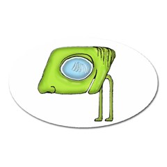 Funny Alien Monster Character Magnet (oval) by dflcprints