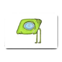 Funny Alien Monster Character Small Door Mat by dflcprints