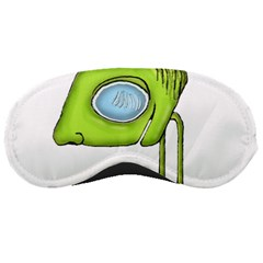 Funny Alien Monster Character Sleeping Mask by dflcprints
