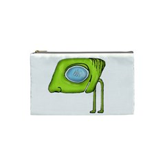 Funny Alien Monster Character Cosmetic Bag (small) by dflcprints