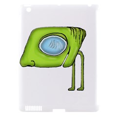 Funny Alien Monster Character Apple Ipad 3/4 Hardshell Case (compatible With Smart Cover) by dflcprints