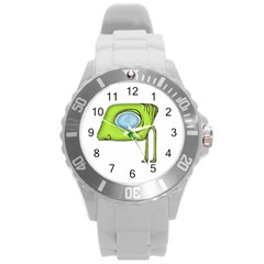 Funny Alien Monster Character Plastic Sport Watch (large) by dflcprints
