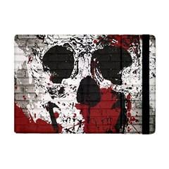 Skull Grunge Graffiti  Apple Ipad Mini Flip Case by OCDesignss