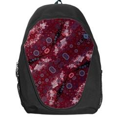 Burgundy Baby Blue Backpack Bag by OCDesignss