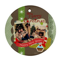 Xmas By Xmas   Round Ornament (two Sides)   Jhzh6dpll15z   Www Artscow Com Back