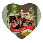 xmas - Heart Ornament (Two Sides)
