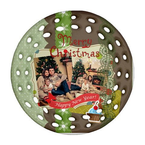 Xmas By Xmas   Ornament (round Filigree)   Nc8uxen8keq4   Www Artscow Com Front