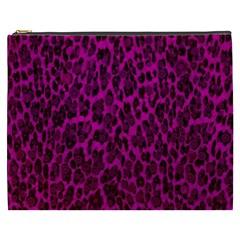Pink Leopard  Cosmetic Bag (xxxl)
