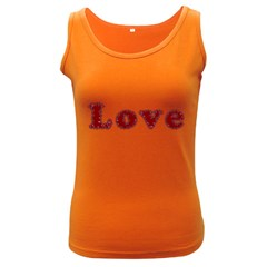 Love Typography Text Word Women s Tank Top (dark Colored) by dflcprints