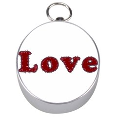 Love Typography Text Word Silver Compass by dflcprints