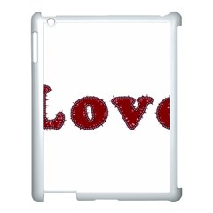 Love Typography Text Word Apple Ipad 3/4 Case (white) by dflcprints
