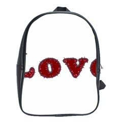 Love Typography Text Word School Bag (xl) by dflcprints