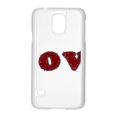 Love Typography Text Word Samsung Galaxy S5 Case (white) by dflcprints