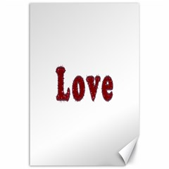 Love Typography Text Word Canvas 24  X 36  (unframed) by dflcprints