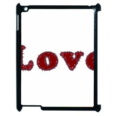 Love Typography Text Word Apple Ipad 2 Case (black) by dflcprints