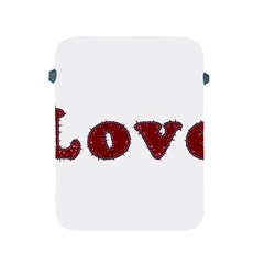 Love Typography Text Word Apple Ipad Protective Sleeve by dflcprints
