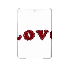 Love Typography Text Word Apple iPad Mini 2 Hardshell Case by dflcprints