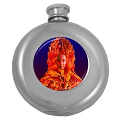 Organic Meditation Hip Flask (round) by icarusismartdesigns
