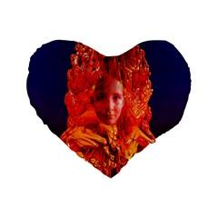 Organic Meditation 16  Premium Heart Shape Cushion  by icarusismartdesigns
