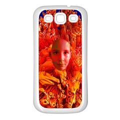 Organic Meditation Samsung Galaxy S3 Back Case (white) by icarusismartdesigns