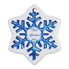 Hannah 14 By Maria Dean   Snowflake Ornament (two Sides)   Sxwie56lcl5y   Www Artscow Com Back