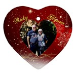 Mom  - Heart Ornament (Two Sides)
