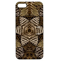 Golden Animal Print  Apple Iphone 5 Hardshell Case With Stand by OCDesignss