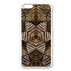 Golden Animal Print  Apple iPhone 6 Plus Enamel White Case