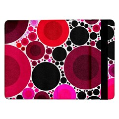 Retro Polka Dot  Samsung Galaxy Tab Pro 12 2  Flip Case by OCDesignss