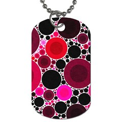 Retro Polka Dot  Dog Tag (two Sided)  by OCDesignss