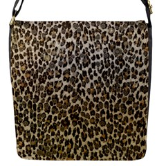 Chocolate Leopard  Flap Closure Messenger Bag (Small) by OCDesignss