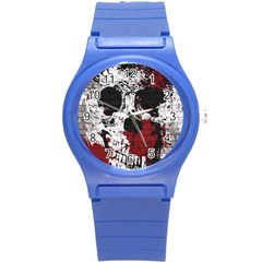 Skull Grunge Graffiti  Plastic Sport Watch (small) by OCDesignss