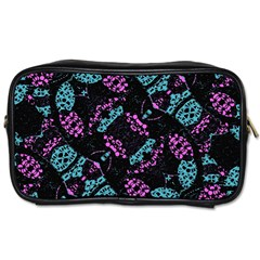 Ornate Dark Pattern  Travel Toiletry Bag (one Side) by dflcprints