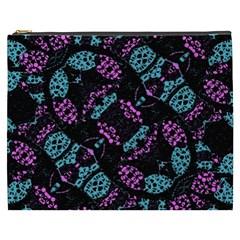 Ornate Dark Pattern  Cosmetic Bag (xxxl) by dflcprints