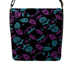 Ornate Dark Pattern  Flap Closure Messenger Bag (large) by dflcprints