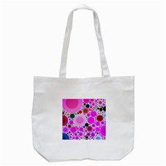 Bubble Gum Polkadot  Tote Bag (white) by OCDesignss