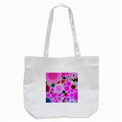 Bubble Gum Polkadot  Tote Bag (white)