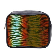 Earthy Zebra Mini Travel Toiletry Bag (two Sides) by OCDesignss