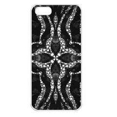 Black Onyx  Apple Iphone 5 Seamless Case (white) by OCDesignss