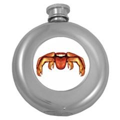 Alien Spider Hip Flask (round) by dflcprints