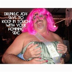 Drunkle Jeff Calender By Sarah   Wall Calendar 11  X 8 5  (12 Months)   Addz756t1tif   Www Artscow Com Month