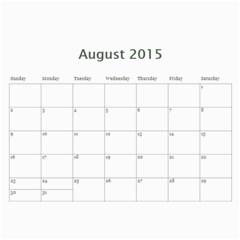 2015 Calender By Tina   Wall Calendar 11  X 8 5  (18 Months)   Fiyldushaxlm   Www Artscow Com Aug 2015