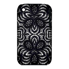 Twisted Zebra  Apple Iphone 3g/3gs Hardshell Case (pc+silicone) by OCDesignss